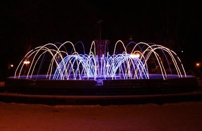 Зимний фонтан в Солнечном парке