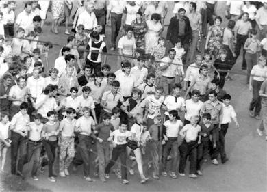 Протести молоді у Тернополі 91-го