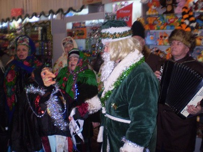 Баба Яга с Дедом Морозом