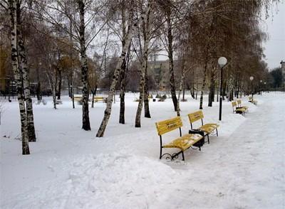 Парк возле детской поликлиники