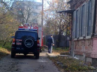 В центре Полтавы произошел пожар