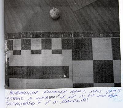 Фальшивая 3-я пуля найденная 10 октября 2008 г.