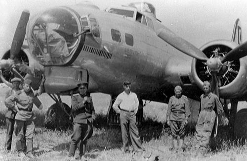Бомбардировщик B 17 «Летающая крепость» в Полтаве