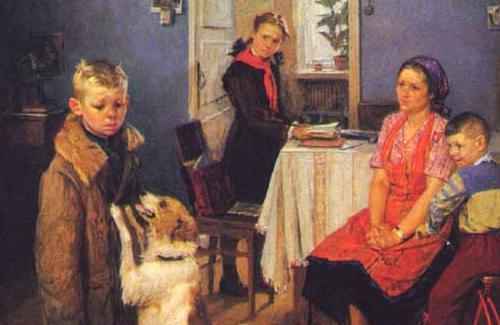 Фрагмент картины «Опять двойка»