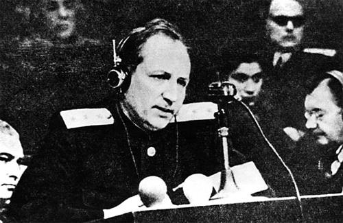 Главный обвинитель от СССР Р.А. Руденко