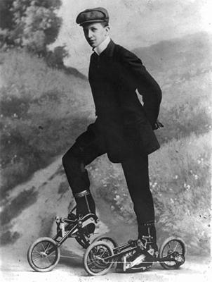 Роликовые коньки, 1910 год