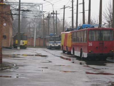 Тролейбусне ДЕПО в Полтаві