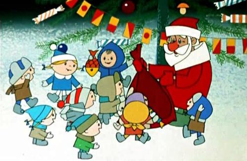 Кадр з мультфильму «Дед Мороз и лето»