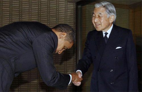 Барак Обама и император Акихито