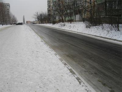 Бульвар Щепотьєва — місцева ковзанка для автомобілів і людей