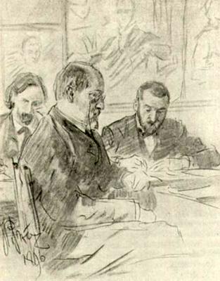 В.А. Беклемешев, М.П. Боткин и Л.В. Позен
