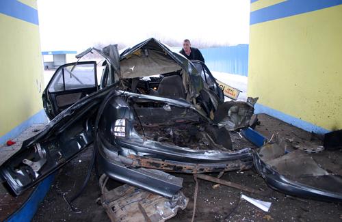 В Полтаве на заправке взорвался автомобиль с водителем