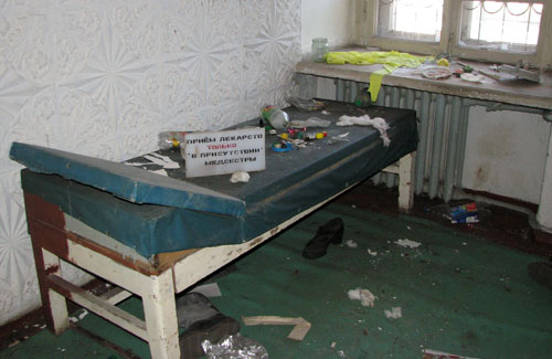 Приміщення військового госпіталю, на основі якого хотіли зробити медичне містечко з онкодиспансером