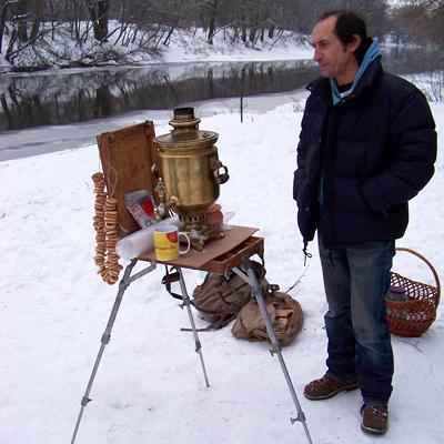 Станіслав Вагнер з власним самоваром