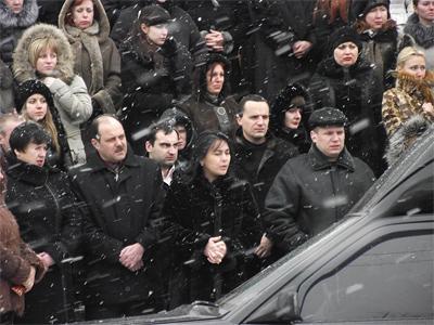 Прощание с Анатолием Кукобой под стенами Полтавского городского совета