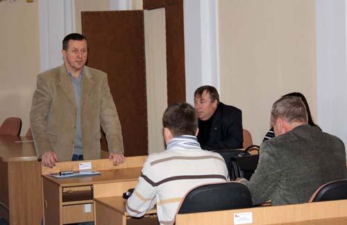 Председаетель Союза Ю.А. Бойко, главный художник Полтавы М.Л. Шлафер