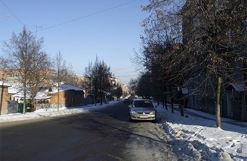 Улица Пролетарская в Полтаве