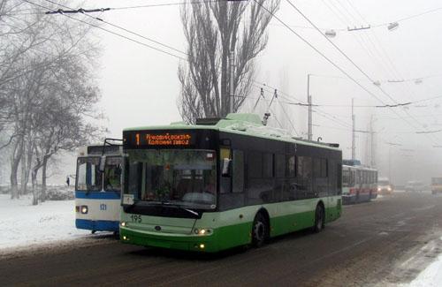 Один из новых троллейбусов «Богдан» в Кременчуге