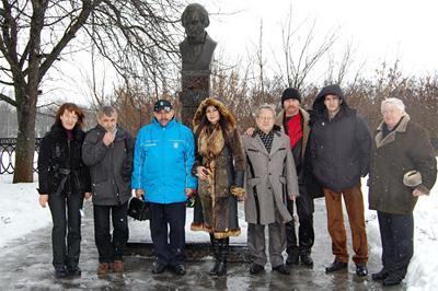 Гости посетили могилу Евгения Гребенки