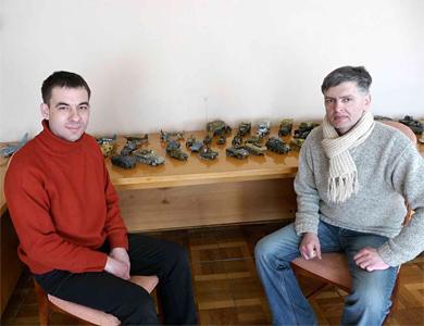 Організатори виставки Євген Хорольський (ліворуч) та Руслан Меджидов