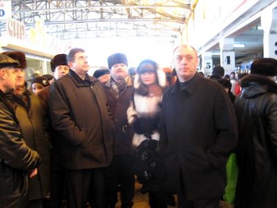 Олександр Удовіченко оглянув і м`ясні ряди критого ринку