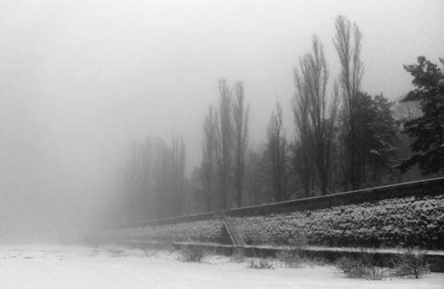 Зимова набережна у Кременчуці