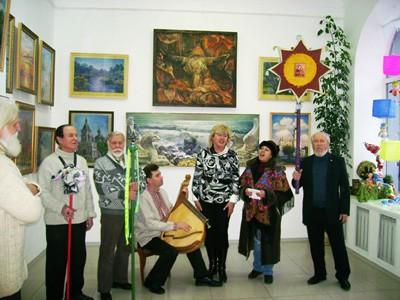 Колеги художника защедрували на виставці