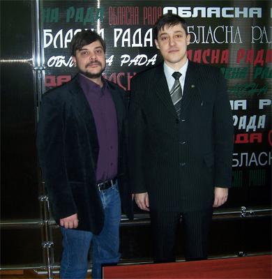 Олег Пустовгар і онук провідника визвольного руху Степана Бандера