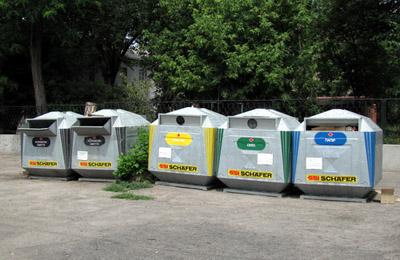 Контейнери для роздільного збору сміття у Кременчуці