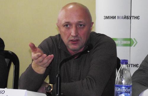 Голова Полтавського обласного осередку ПП «Фронт Змін» Валерій Головко