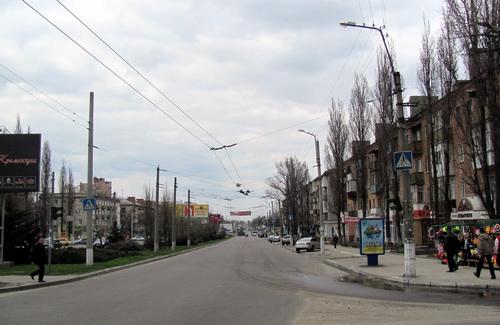 Улица 60 лет Октября в Кременчуге