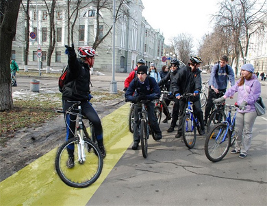 Проект прокладання велодоріжок в Полтаві