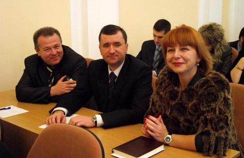 Депутаты Олег Горб, Владимир Ивченко, Лилиана Белашова