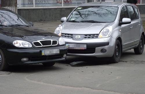 В Полтаве «поцеловались» Daewoo Lanos и Nissan