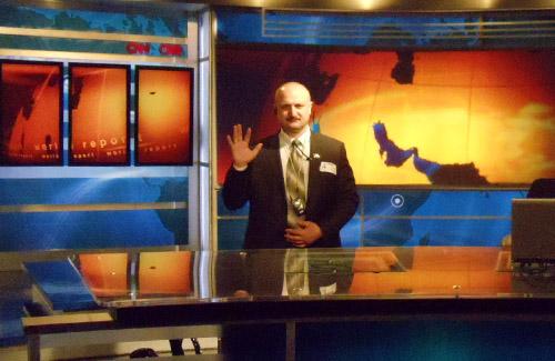 Петро Ворона в студії CNN