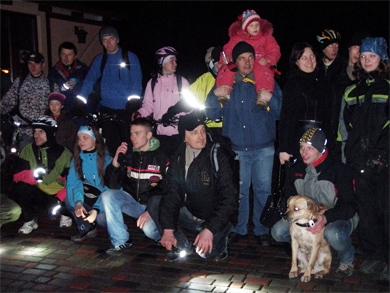 Після вогняного шоу велосипедисти проїхалися історичним центром Полтави