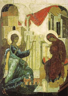 Благовіщення. Ікона св. Андрія Рубльова.
