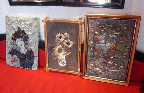 Картини зі шкіри Ольги Медицької