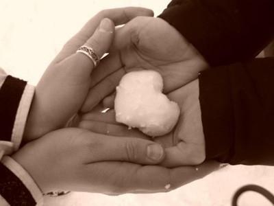 «Снежная» валентинка