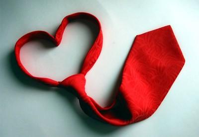 Валентинка-галстук
