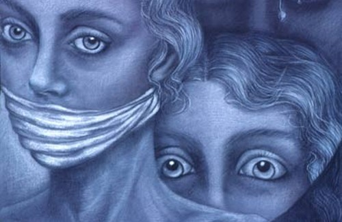 Фрагмент картини Мартина Хоффманна, «Ті що замовкли»