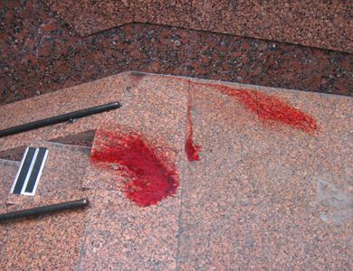 В центре Полтавы пролилась кровь