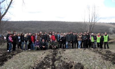 Полтавські студенти посадили 2 гектари лісу