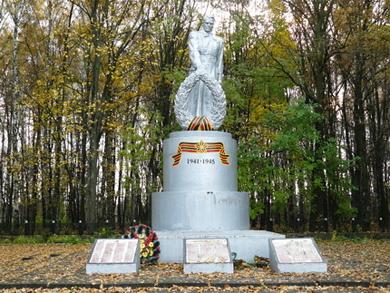 Село Березоточа. Пам'ятник загиблим воїнам у Великій Вітчизняній війни