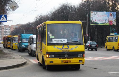 Скільки у Полтаві автобусів і маршрутних таксі