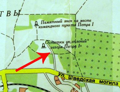 Так табір позначено на мапі
