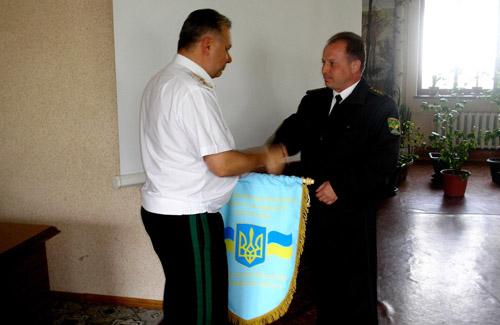 Начальник Полтавського ОУЛМГ Ю. Тараненко та директор ДП «Миргородський лісгосп» М. Кожем'яка