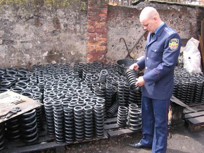У Полтаві конфіскували «ліві» залізничні пружини