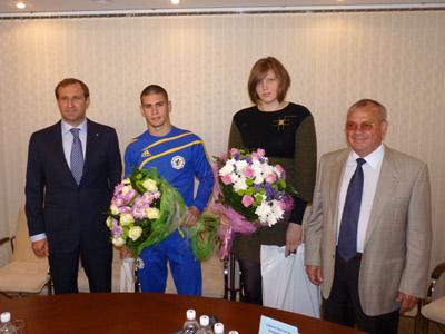 Олег Бабаев, Виталий Попович, Елизавета Каланина и Владимир Матыцин