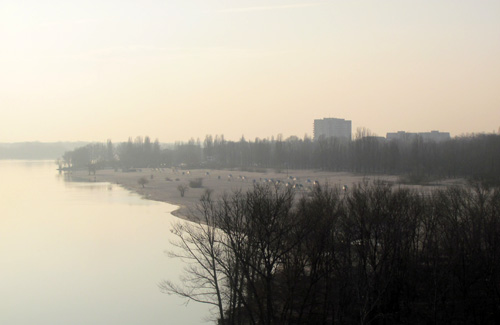 Центральный пляж в Кременчуге
